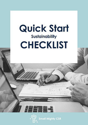Quick Start Sustainability Checklist