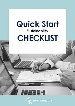 Quick Start Sustainability Checklist